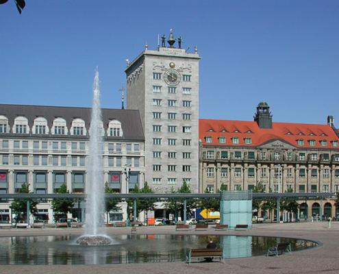 Augustusplatz mit Krochhochhaus | Leipzig