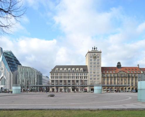Augustusplatz und Krochhochhaus | Leipzig
