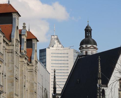 Cityhochhaus und Thomaskirche | Leipzig