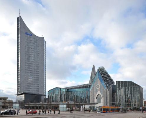Cityhochhaus und Paulinum | Leipzig